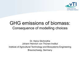 GHG emissions of biomass: Consequence of