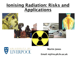 Detection of Ionising Radiation
