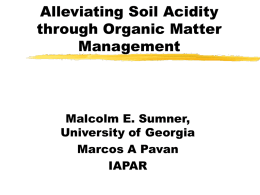 Alleviating Soil Acidity through Organic Matter Management