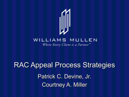 RAC Appeals - Williams Mullen