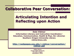 Collaborative Peer Conversation