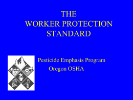 WORKER PROTECTION STANDARD aka WPS