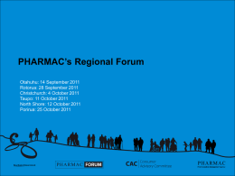PHARMAC PPT Blue Template