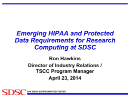 Emerging HIPAA and Protected Data Requirements for Research