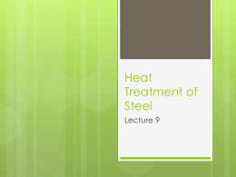 Heat Treatment of Steel