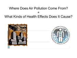 Where Does Air Pollution Come From? + What