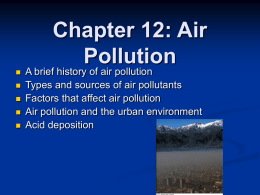 Air Pollutants