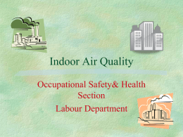 Air Quality - Coverley Medical Center