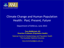 Part 2 - Climate Change and Human Population Health
