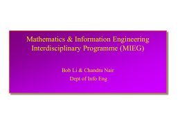 MIEG - Department of Information Engineering