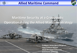 Operationalising the Allied Maritime Strategy