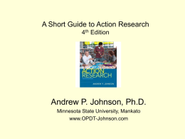 Chapter 8: Quantitative Design in Action Research - ar