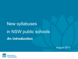 Update on the Australian Curriculum