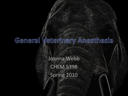 General Veterinary Anesthesia