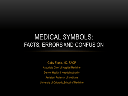 Medical symbols - University of Colorado Denver