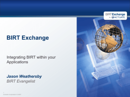 BIRT Exchange - Arts Partners