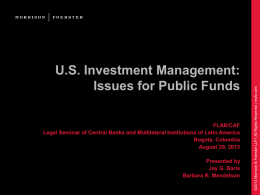 US Investment Management: Issues for Public Funds FLAR/CAF