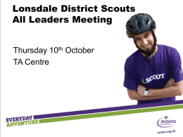 Your title here - Lonsdale District Scouts