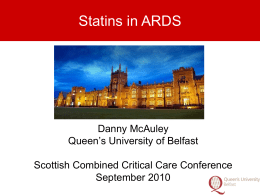 Statins in ARDS