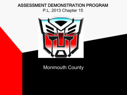 Monmouth County PowerPoint presentation