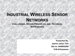 Industrial Wireless Sensor Networks_ Challenges, Design Principles