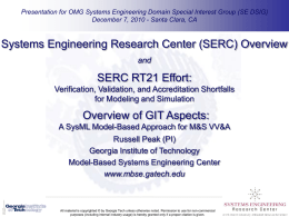 SERC RT21 - Georgia Tech Engineering Information Systems Lab