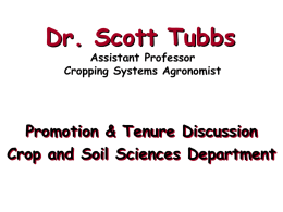 Dr. Scott Tubbs - Department of Crop and Soil Sciences