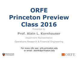 Princeton_Preview16 - Operations Research and Financial