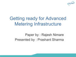 Getting ready for Advanced Metering Infrastructure