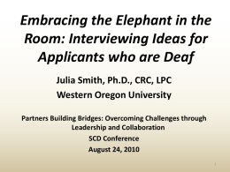 Embracing the Elephant in the Room