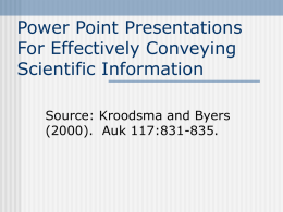 Designing PowerPoint Slides For Conveying Information