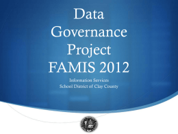 Data Governance - Florida Association of Management Information