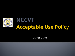 AUP presentation for students