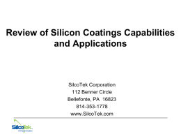 Why use coatings?