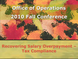 Tax Compliance Recovering Salary Overpayments