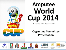 Power Point - World Amputee Football