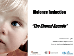 Violence reduction - Community Development Alliance Scotland