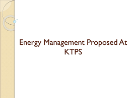 Energy Management At KTPS