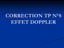 CORRECTION TP 8 EFFET DOPPLER