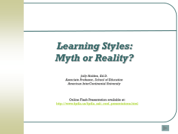 Learning Styles and Generational Differences