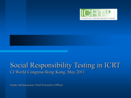 Social Responsibility Testing in ICRT