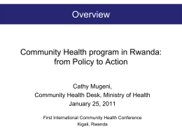 Community health best practices in Rwanda