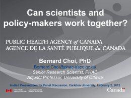 Research and Policy - Carleton University