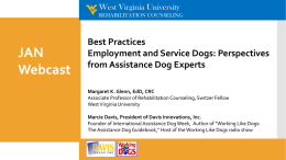Service Dogs and the ADA - Job Accommodation Network