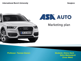 ASA AUTO - International Burch University