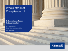 Who`s afraid of Compliance…?