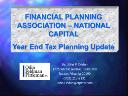 Financial planning assoc