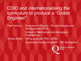 CDIO and Internationalising the Curriculum to Produce a
