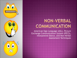 Non-Verbal Communication Presentation