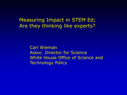 Wieman Presentation  - CCLI/TUES: Course, Curriculum, and